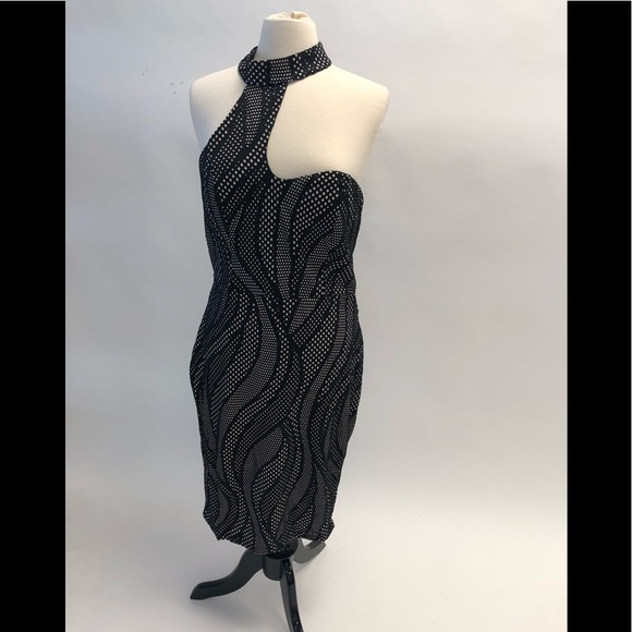 Xtaren Plus Dresses Strapless Plus Size Dress With Neck Collar